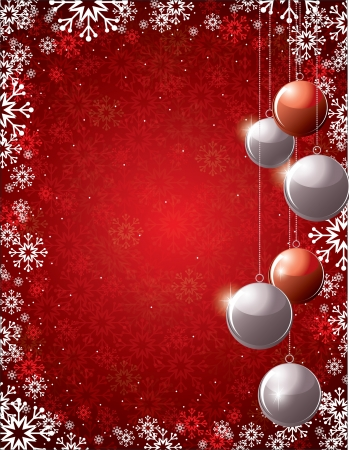 group of christmas baubles: Christmas Background