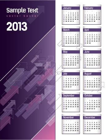 2013 Calendar   Stock Vector - 15035690