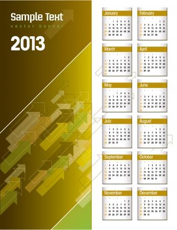2013 Calendar   Stock Vector - 15035689
