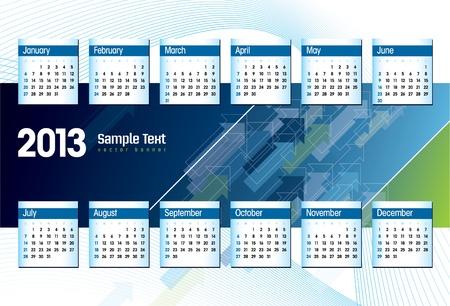 2013 Calendar Stock Vector - 15035699