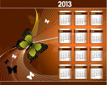 2013 Calendar Stock Vector - 15035713