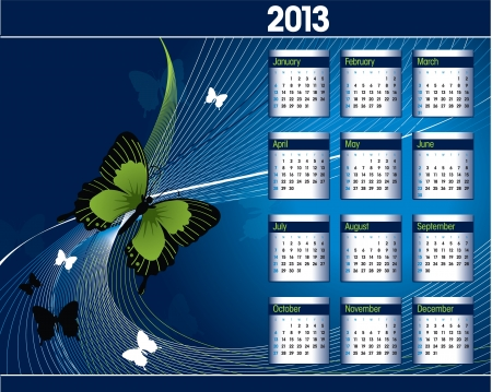 2013 Calendar   Stock Vector - 15035714