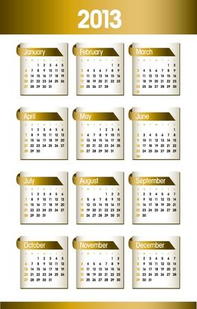 2013 Calendar Stock Vector - 15035686