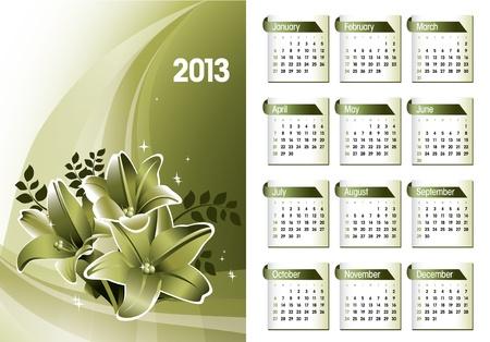 2013 Calendar  Stock Vector - 15035781
