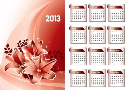 2013 Calendar Stock Vector - 15035760