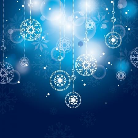 silver ribbon: Christmas Background  Abstract Illustration  Illustration