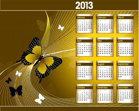 2013 Calendar Stock Vector - 15389275