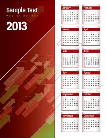 2013 Calendar  Illustration