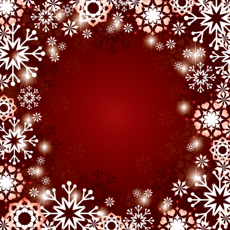 crystallization: Christmas Background  Eps10 Format  Illustration