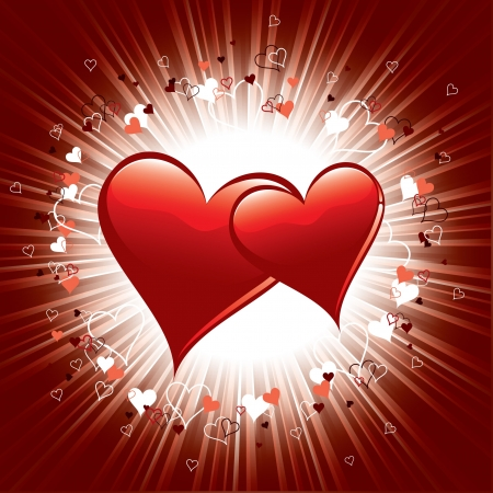 Valentine Day Background  Hearts Stock Vector - 17628145