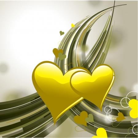 olive green: Valentine Day Background  Hearts  Illustration