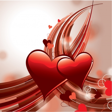 Valentine Day Background  Hearts Stock Vector - 17628146