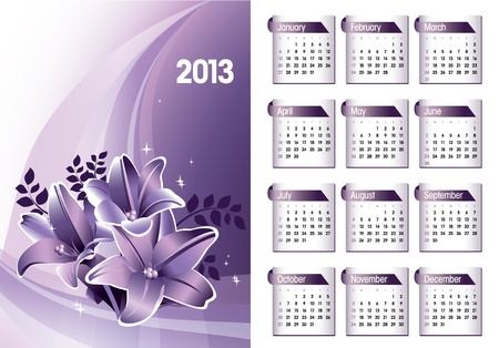 2013 Calendar  Stock Vector - 17628141