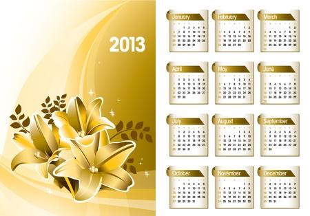 2013 Calendar  Stock Vector - 17628142