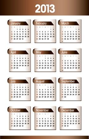 2013 Calendar Stock Vector - 17628123