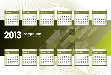 2013 Calendar  Stock Vector - 17628129