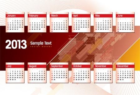 2013 Calendar  Stock Vector - 17628136