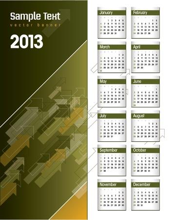 2013 Calendar  Stock Vector - 17628127
