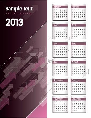2013 Calendar  Stock Vector - 17628128
