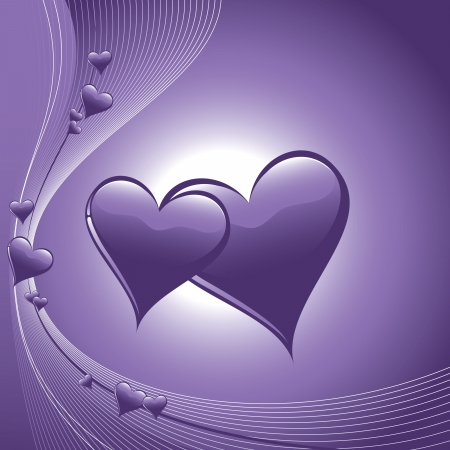 Valentine Day Background  Hearts  Vector
