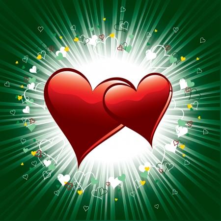 romance: Valentine Hearts  Vector Illustration