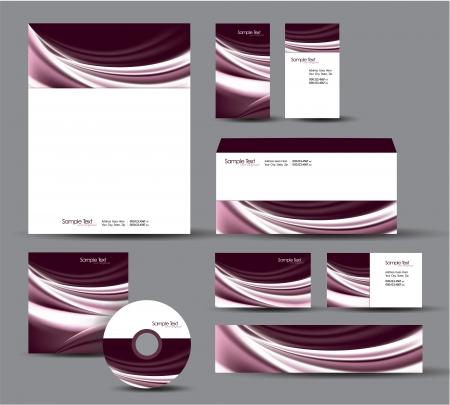 Modern Identity Package  Letterhead, business gift cards, envelope, cd dvd, header banner Stock Vector - 17742949