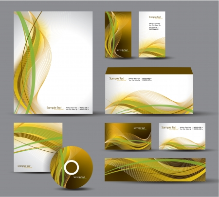 Modern Identity Package  Letterhead, business gift cards, envelope, cd dvd, header banner  Vector