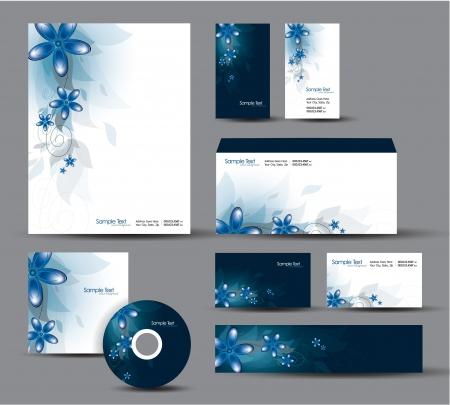 Modern Identity Package  Letterhead, business gift cards, envelope, cd dvd, header banner Stock Vector - 17742940