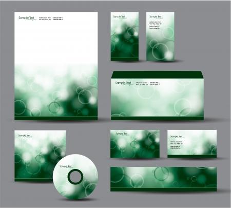 Modern Identity Package  Letterhead, business gift cards, envelope, cd dvd, header banner Stock Vector - 17742934