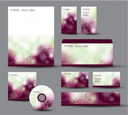 Modern Identity Package  Letterhead, business gift cards, envelope, cd dvd, header banner  Stock Vector - 17742937