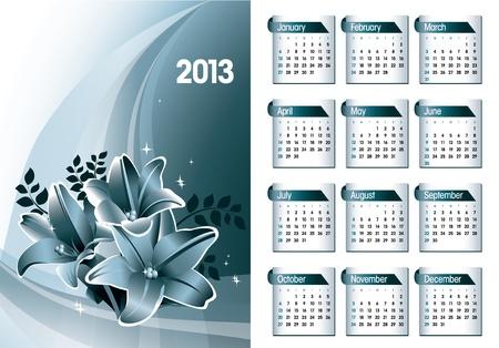 2013 Calendar Stock Vector - 17742929