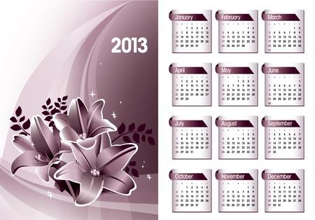 2013 Calendar  Stock Vector - 17742919