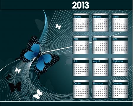 2013 Calendar Stock Vector - 17742911