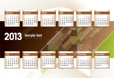2013 Calendar  Stock Vector - 17742907