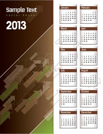 2013 Calendar Stock Vector - 17742921