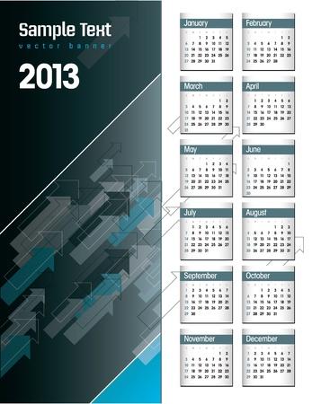 2013 Calendar  Stock Vector - 17742906