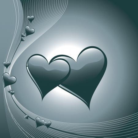 Valentine Hearts Stock Vector - 17742905