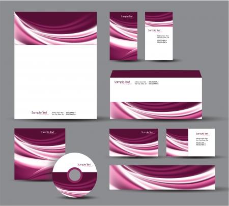 Modern Identity Package  Letterhead, business gift cards, envelope, cd dvd, header banner Stock Vector - 17946896