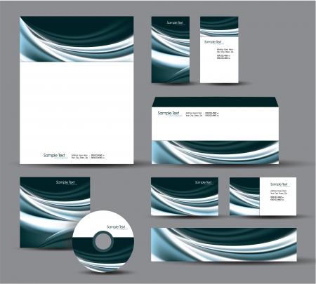 Modern Identity Package  Letterhead, business gift cards, envelope, cd dvd, header banner  Stock Vector - 17946897