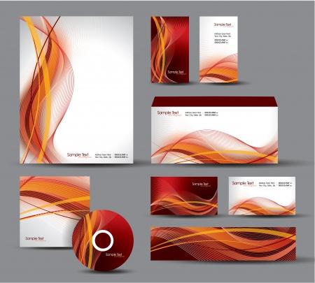Modern Identity Package  Letterhead, business gift cards, envelope, cd dvd, header banner Stock Vector - 17946901