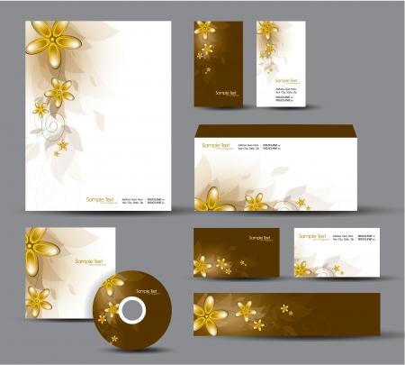 Modern Identity Package  Letterhead, business gift cards, envelope, cd dvd, header banner Stock Vector - 17946903