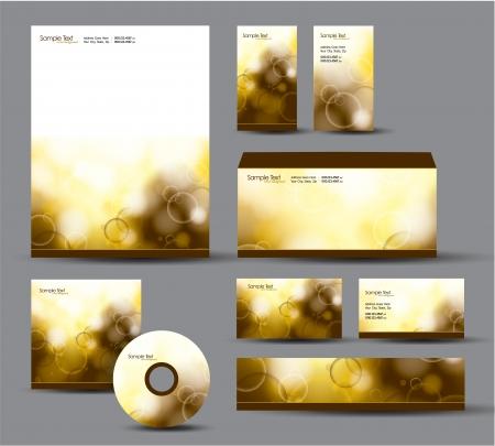 corporate event: Modern Identity Package  Letterhead, business gift cards, envelope, cd dvd, header banner