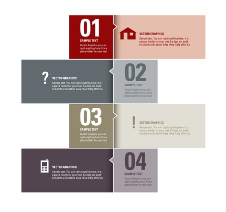 layout: Modern Vector Design Template  Numbered Banners  Graphic or Website Layout