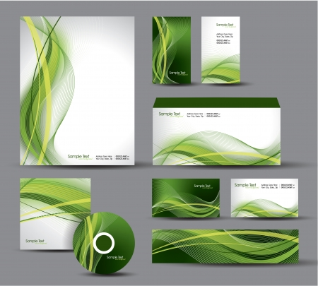 Modern Identity Package  Letterhead, business gift cards, envelope, cd dvd, header banner Stock Vector - 18243001