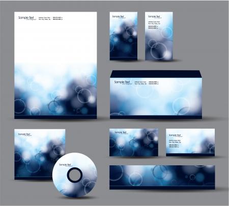 Modern Identity Package Briefpapier, visite cadeaubonnen, envelop, CD DVD, header banner