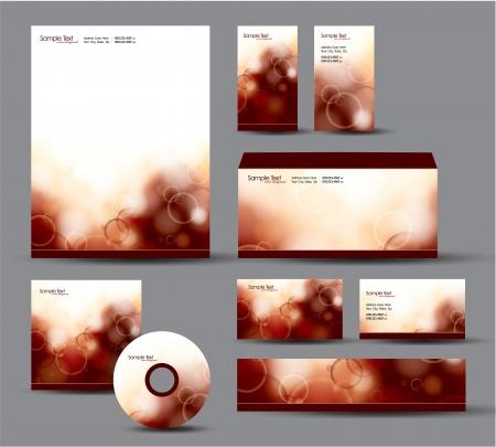 Modern Identity Package  Letterhead, business gift cards, envelope, cd dvd, header banner  Vector