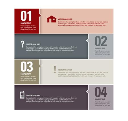 Moderne Vector Design Template Genummerde Banners Grafisch of Website lay-out Stock Illustratie