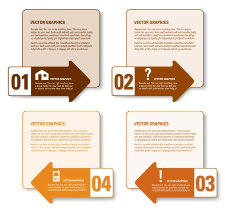 Modern Vector Design Template  Numbered Banners  Graphic or Website Layout  Eps10   Vector