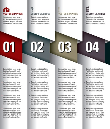 business graphics: Modern Vector Design Template  Numbered Banners  Graphic or Website Layout  Eps10