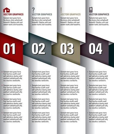 Moderne Vector Design Template Genummerde Banners Grafische of Website Layout Eps10